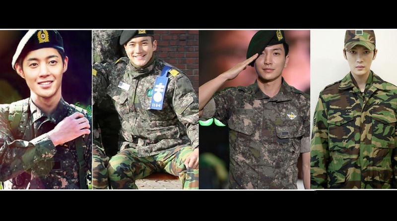 Resultado de imagen para kpop idols servicio militar collage